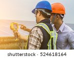 an engineer working on checking ... | Shutterstock . vector #524618164