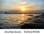 Beach Sunset Of The Sea With...