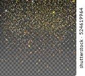 falling shiny gold glitter... | Shutterstock . vector #524619964
