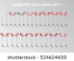 isometric european restriction... | Shutterstock .eps vector #524624650