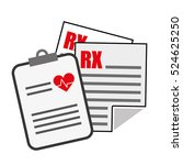 medical report history icon... | Shutterstock .eps vector #524625250