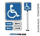 handicapped parking sign.... | Shutterstock .eps vector #524625898