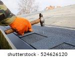 worker hands installing bitumen ...