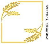 beautiful wheat. vector... | Shutterstock .eps vector #524626528
