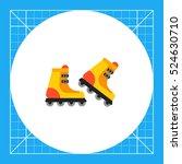pair of roller skates | Shutterstock .eps vector #524630710