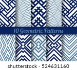 set of 10 abstract patterns.... | Shutterstock .eps vector #524631160