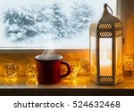 Winter Decoration With Lantern...