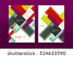 straight lines geometric... | Shutterstock . vector #524633590