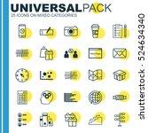 set of 25 universal editable... | Shutterstock .eps vector #524634340