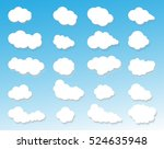 clouds icon  cloudy sky  clouds ...   Shutterstock . vector #524635948