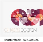 abstract background with round... | Shutterstock . vector #524636026
