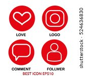 set of icons love  dialogue ... | Shutterstock .eps vector #524636830