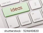 ideas word written on computer... | Shutterstock . vector #524640820