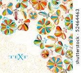 floral background | Shutterstock .eps vector #52464463