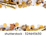 new years eve double border of... | Shutterstock . vector #524645650