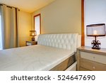 white double bed front view ... | Shutterstock . vector #524647690