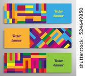 set of vector banners with... | Shutterstock .eps vector #524649850