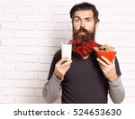 handsome bearded man with... | Shutterstock . vector #524653630
