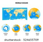 world ocean or global ocean.... | Shutterstock .eps vector #524655709