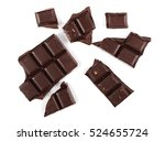 chocolate bars isolated on... | Shutterstock . vector #524655724