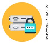 secure cloud network icon.... | Shutterstock .eps vector #524656129