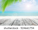 old wood table top on blurred... | Shutterstock . vector #524661754