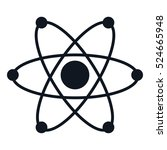 isolated atom science icon... | Shutterstock .eps vector #524665948