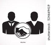 handshake vector icon.... | Shutterstock .eps vector #524669419