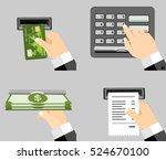 atm terminal usage vector... | Shutterstock .eps vector #524670100