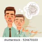 confused puzzled thinking... | Shutterstock .eps vector #524670103