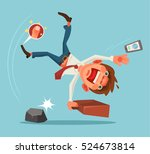 falling unsuccessful man... | Shutterstock .eps vector #524673814