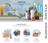 refugees infographic  victims... | Shutterstock .eps vector #524676124