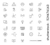 streaming icons | Shutterstock .eps vector #524676163