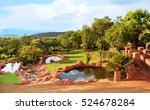 beautiful african landscape of...   Shutterstock . vector #524678284