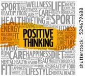 positive thinking word cloud... | Shutterstock .eps vector #524679688