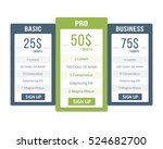 pricing table template with... | Shutterstock .eps vector #524682700