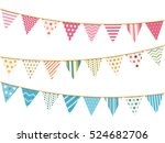 pink  blue and white bunting ... | Shutterstock .eps vector #524682706