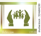 hand and family icon | Shutterstock .eps vector #524684230