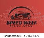 Retro Hot Rod Car Poster. T...