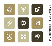 vector flat icons set  ... | Shutterstock .eps vector #524684584