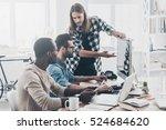 business communication.  group... | Shutterstock . vector #524684620