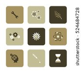 vector flat icons set   science ... | Shutterstock .eps vector #524684728