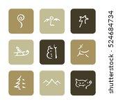 vector flat icons set  ... | Shutterstock .eps vector #524684734