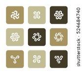 vector flat icons set  ... | Shutterstock .eps vector #524684740