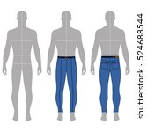 full length man's grey... | Shutterstock .eps vector #524688544