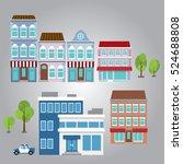 cityscape flat design elements | Shutterstock .eps vector #524688808