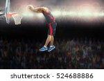 basketball player scoring  an...   Shutterstock . vector #524688886