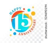 15th anniversary emblem. vector ... | Shutterstock .eps vector #524690194