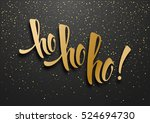 merry christmas greeting card... | Shutterstock .eps vector #524694730