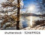 Frozen Lake At Sunset....